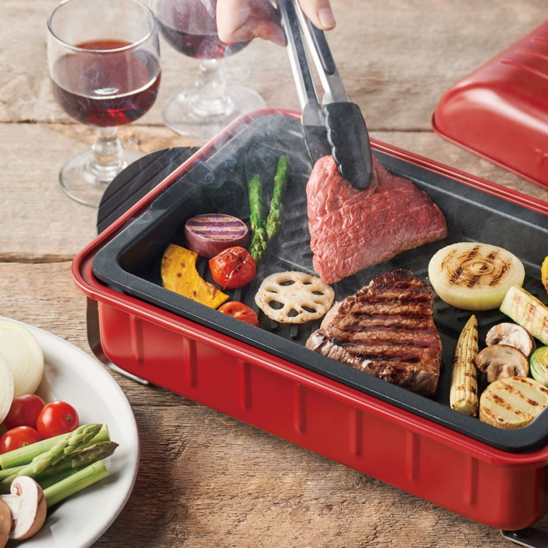 récolte Home BBQ Table Cooking Plate (RBQ-1 Noble Red)